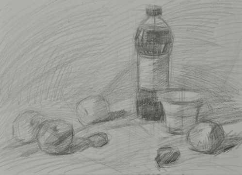 铅笔画教程简单图片 素描静物入门教程绘画步骤